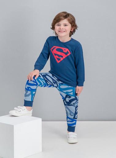 Superman  Lisanslı Lacivert Erkek Çocuk Eşofman Takımı Lacivert